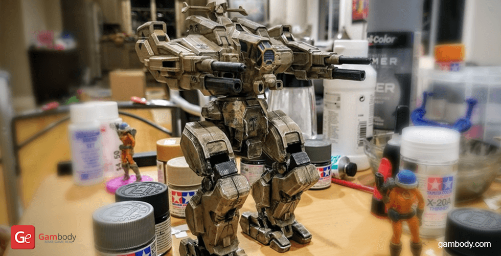 Buy MWO Rifleman 3D Printing Model | Assembly + Action