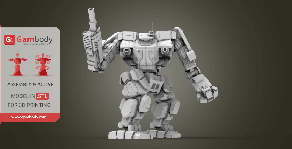 Buy MWO Awesome 3D Printing Files | Assembly + Action