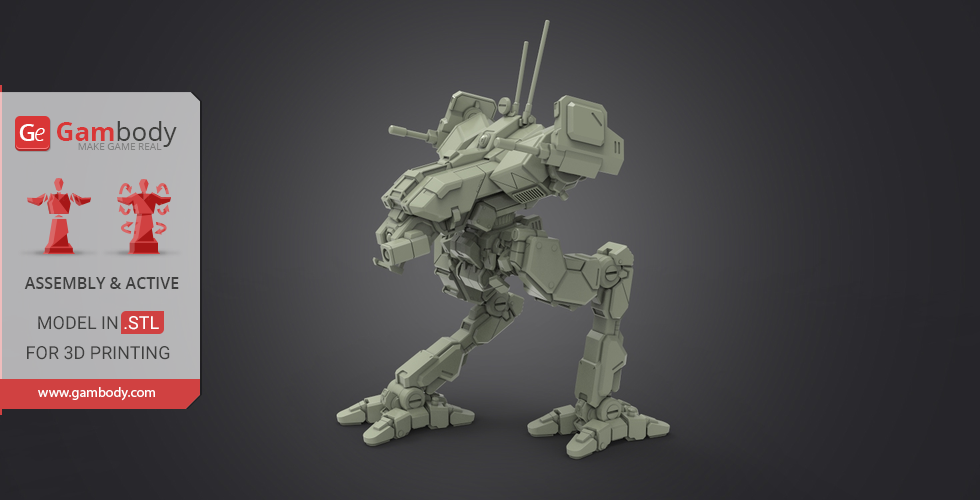 Buy MWO Locust 3D Printing Files | Assembly + Action