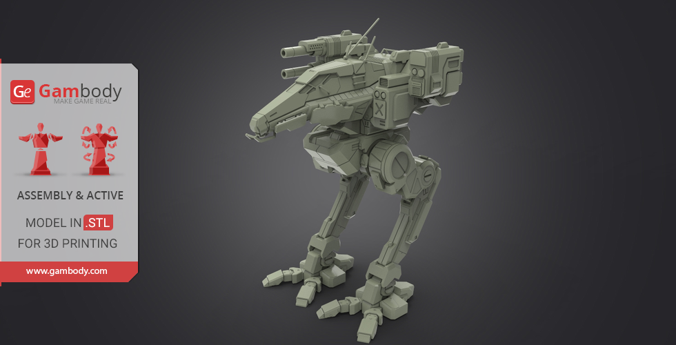 Buy MWO Raven 3D Printing Files | Assembly + Action