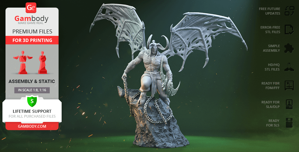 Buy Illidan Stormrage 3D Printing Figurine | Assembly