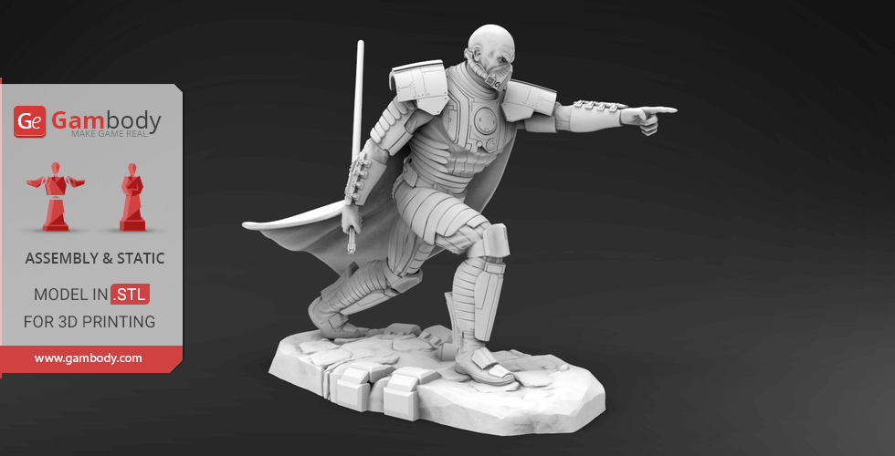 Buy Darth Malgus 3D Printing Miniature | Assembly