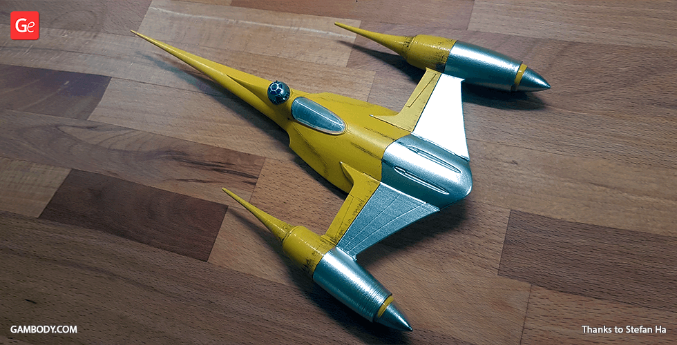 Buy Naboo N-1 Starfighter 3D Printing Miniature | Assembly