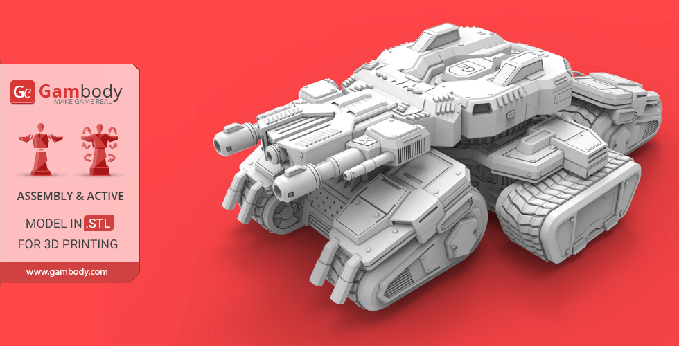 Buy Siege Tank 3D Printing Model | Assembly + Action