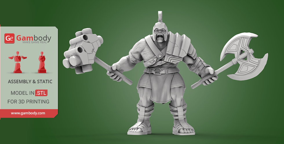 Buy Armored Hulk 3D Printing Miniature | Assembly
