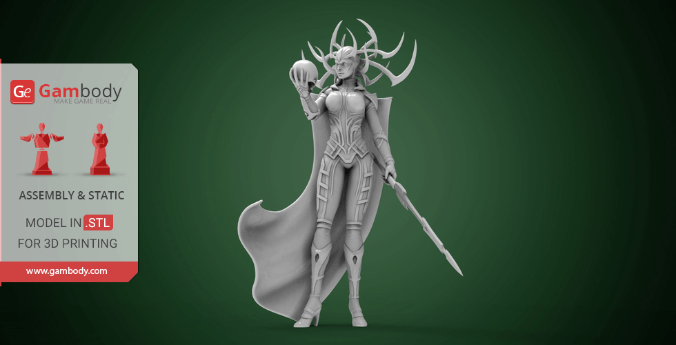 Buy Hela 3D Printing Miniature | Assembly