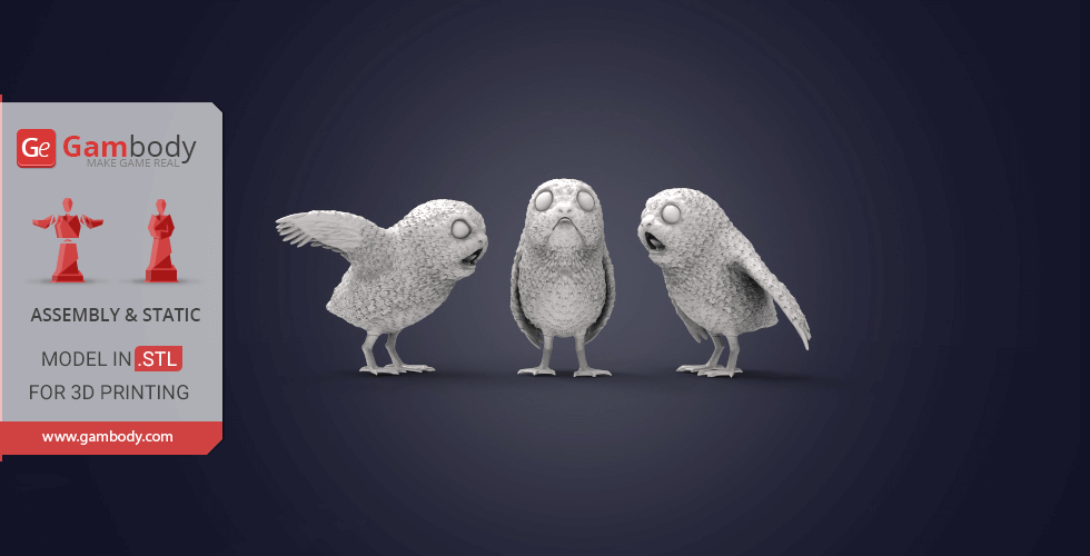 Buy Porgs 3D Printing Miniatures | Assembly