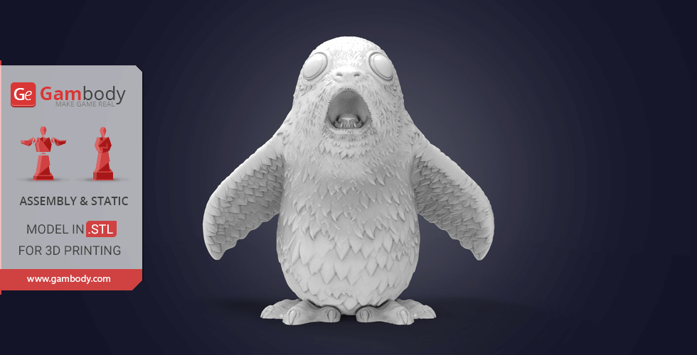 Buy Impressed Porg 3D Printing Miniature | Static