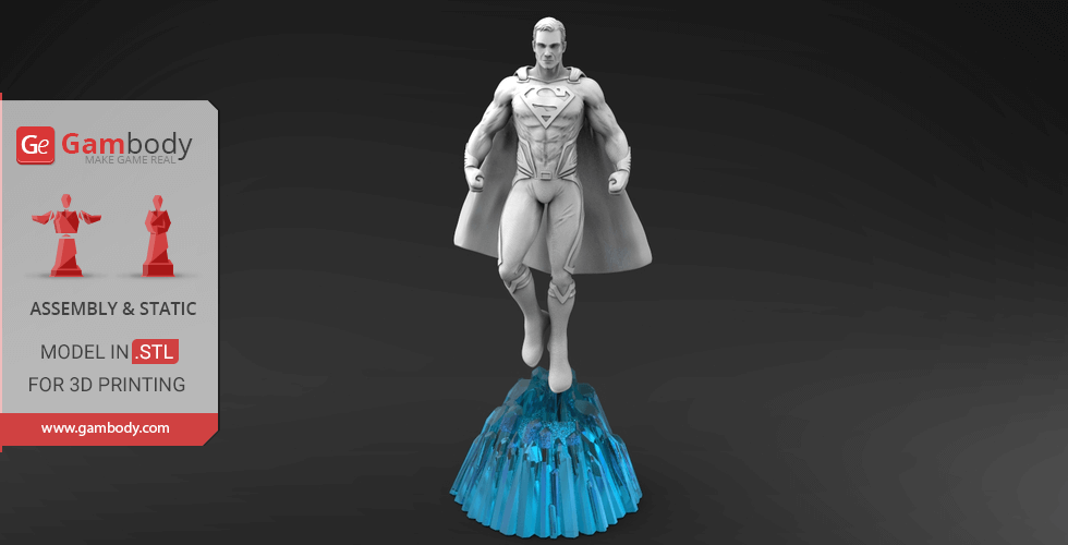 Buy Superman 3D Printing Miniature | Assembly
