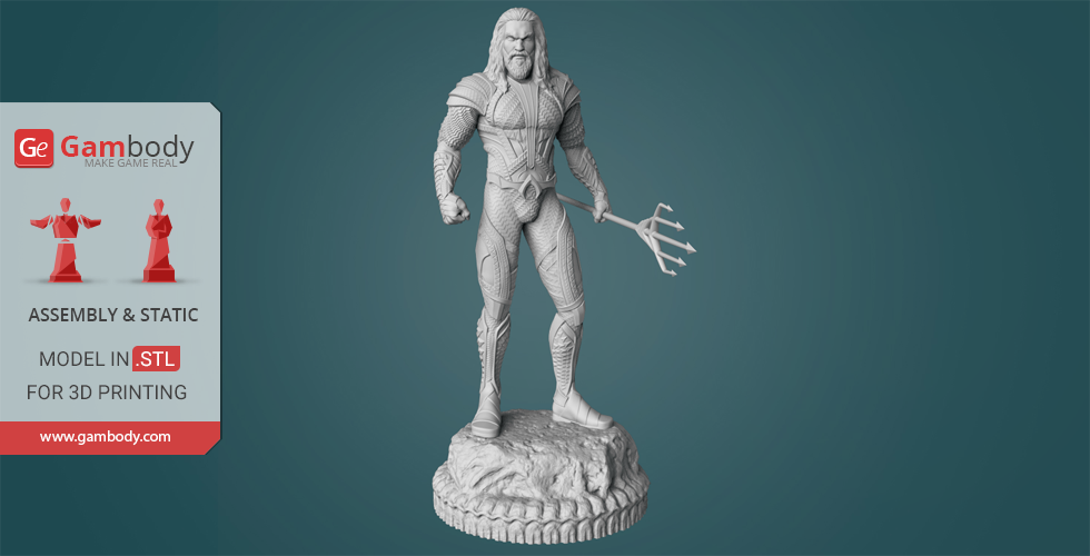 Buy Aquaman 3D Printing Figurine | Assembly
