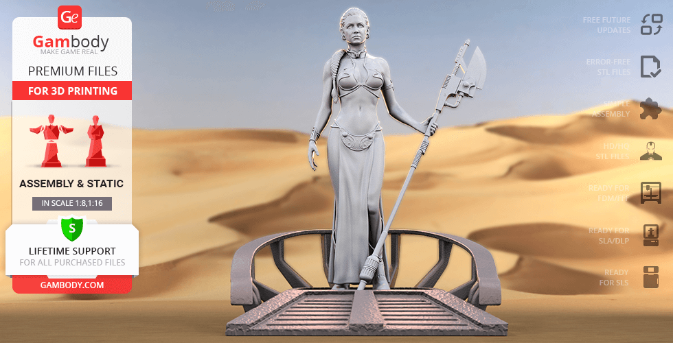 Buy Princess Leia 3D Printing Figurine | Assembly