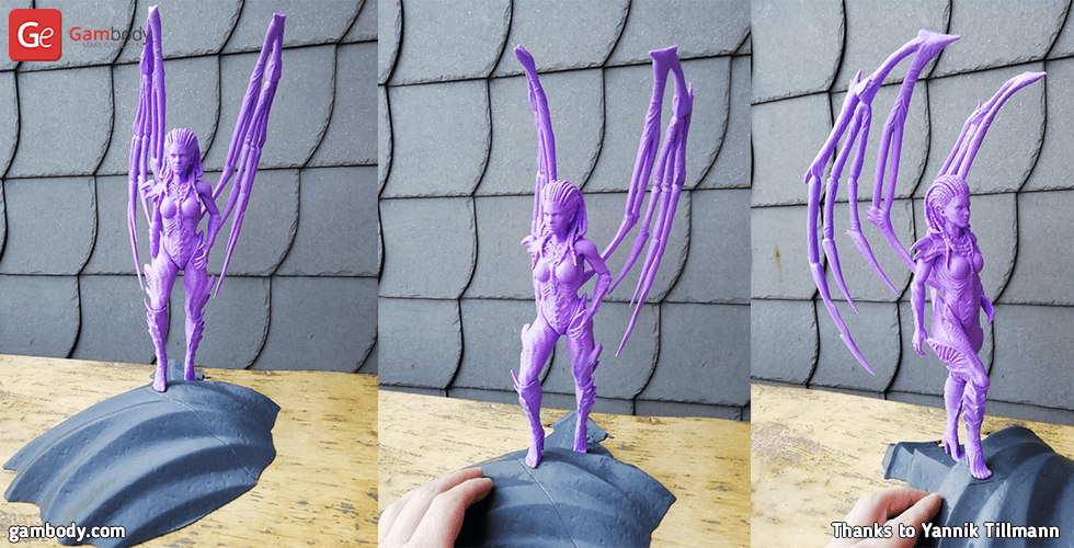 Buy Queen of Blades 3D Printing Miniature | Assembly