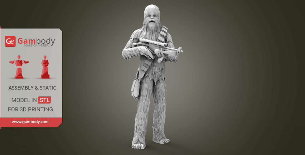 Buy Chewbacca 3D Printing Miniature | Assembly