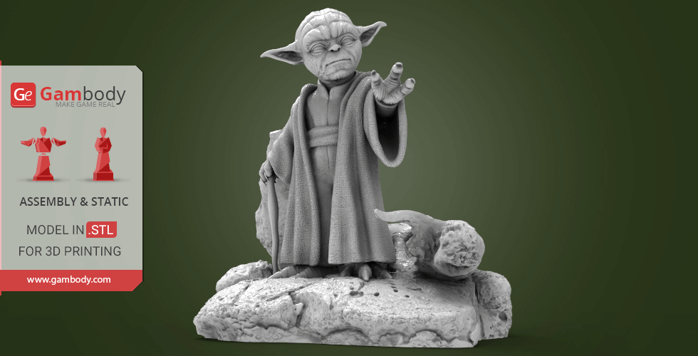 Buy Master Yoda 3D Printing Miniature | Assembly