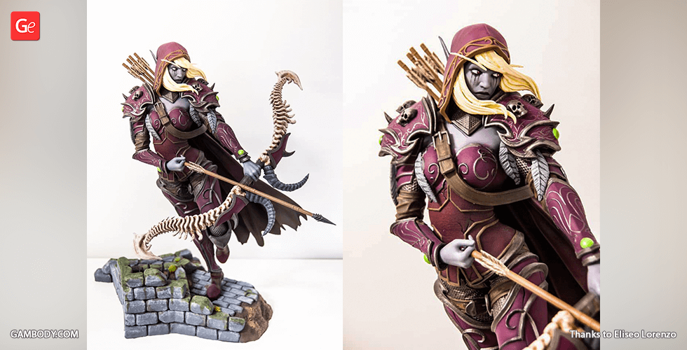 Buy Sylvanas 3D Printing Figurine | Assembly