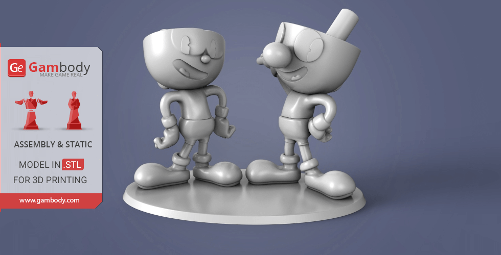 Buy Cuphead and Mugman 3D Printing Miniatures | Assembly