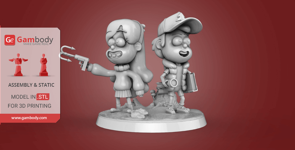 Buy Dipper and Mabel 3D Printing Miniatures | Assembly