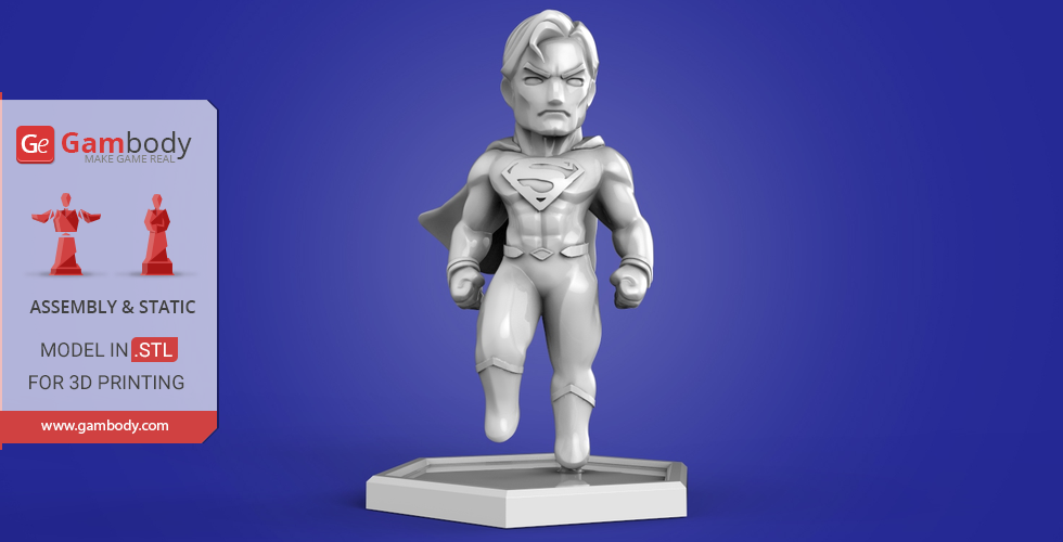 Buy Chibi Superman 3D Printing Miniature | Assembly