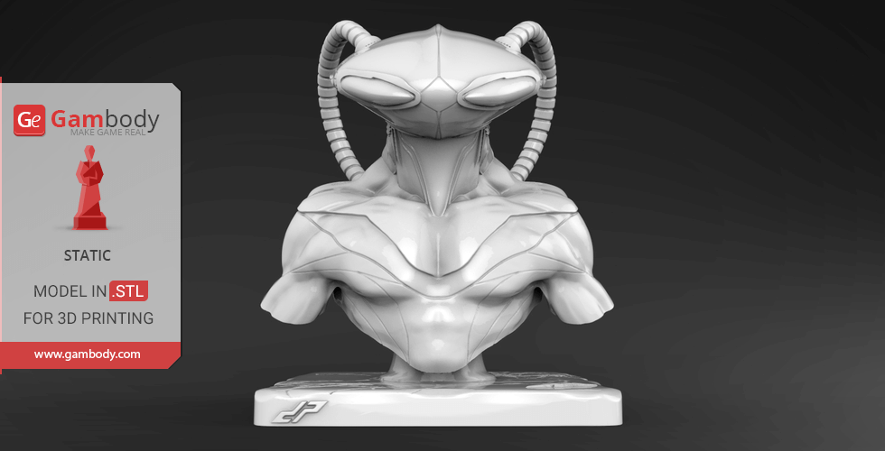 Buy Black Manta Bust 3D Miniature | Static