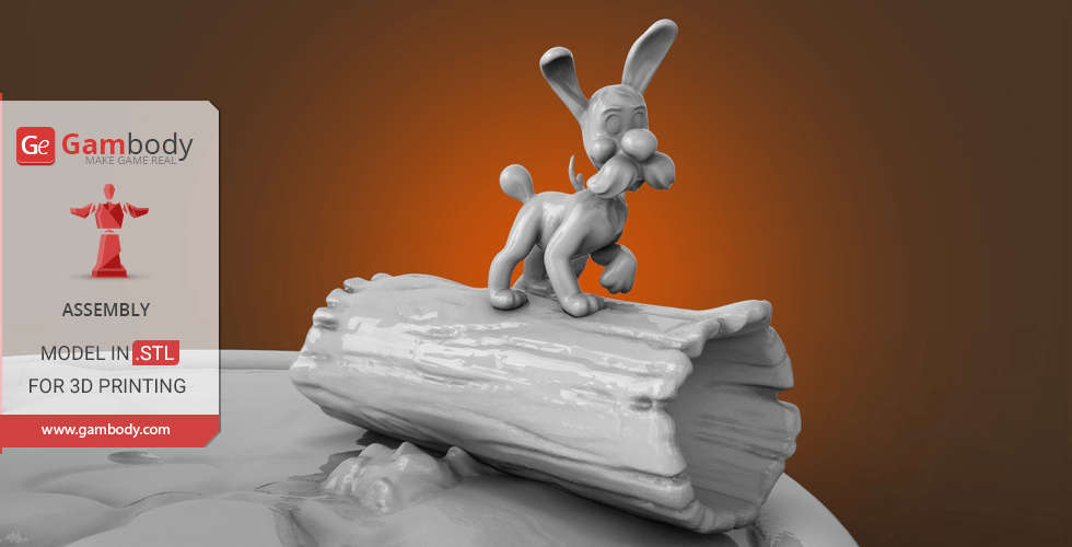 Buy Dogmatix 3D Printing Figurine for Diorama   Assembly