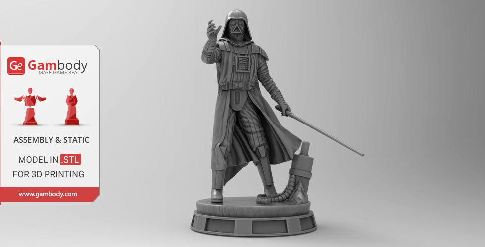 Buy Darth Vader 3D Printing Miniature | Assembly