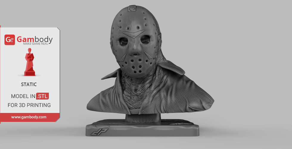 Buy Jason Bust 3D Printing Miniature | Static