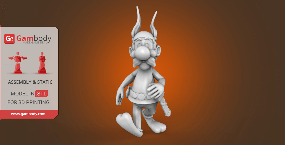 Buy Asterix 3D Printing Miniature | Assembly