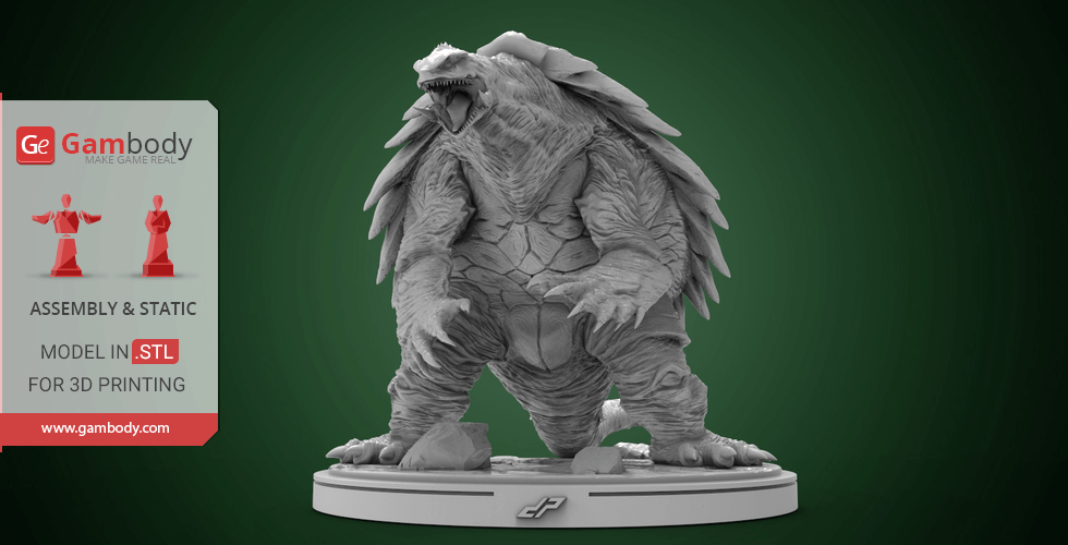 Buy Gamera 3D Printing Miniature | Assembly