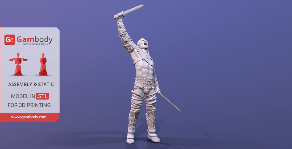 Buy Gannicus 3D Printing Miniature | Assembly