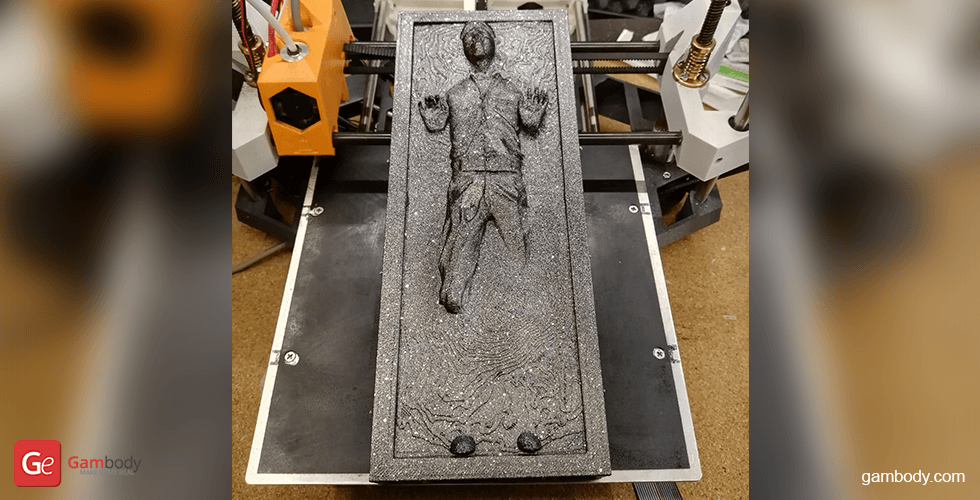Buy Han Solo in Carbonite 3D Printing Miniature | Assembly