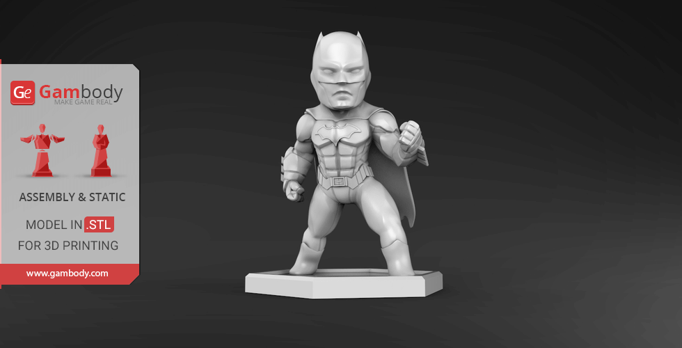 Buy Chibi Batman 3D Printing Miniature | Assembly