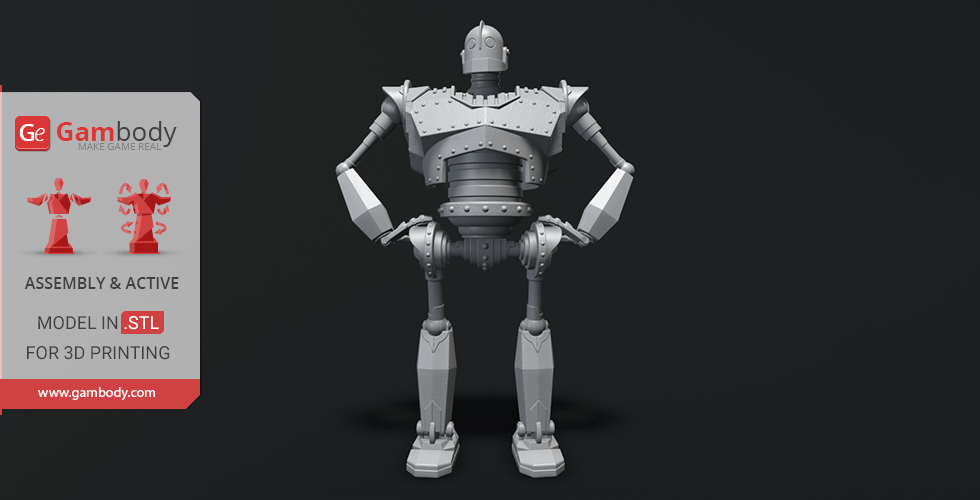 Buy The Iron Giant 3D Printing Model | Assembly+Action