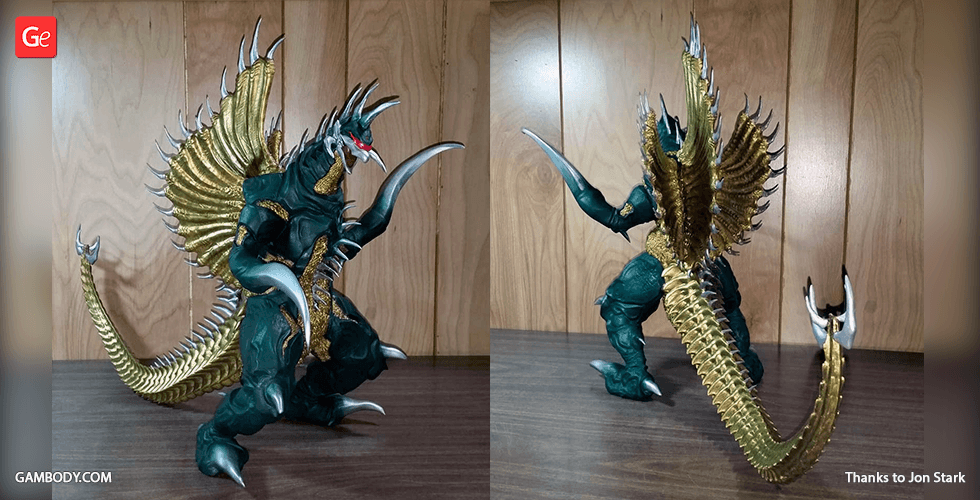 Buy Gigan Millennium Era 3D Printing Figurine | Assembly