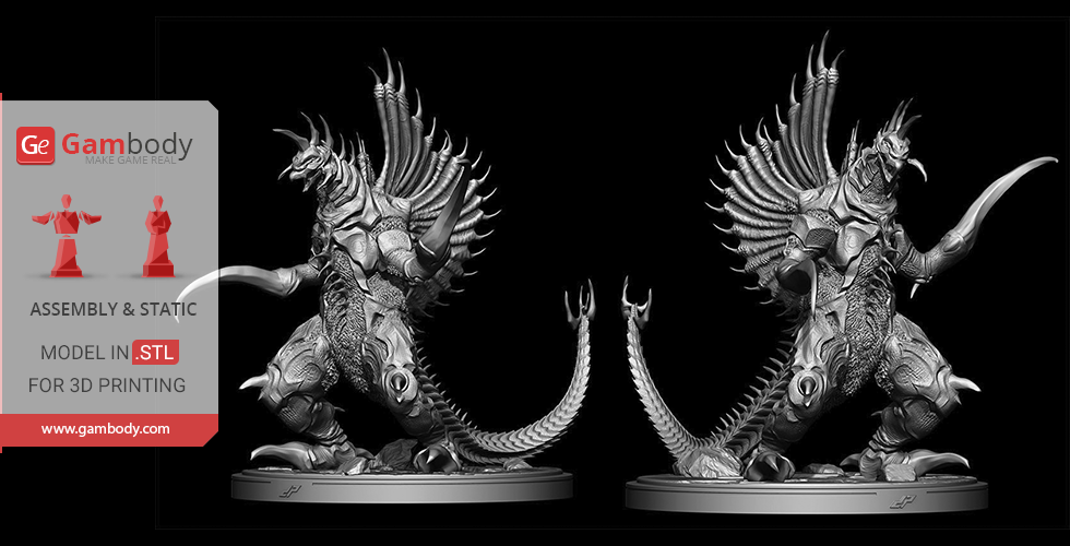 Buy Gigan Millennium Era 3D Printing Miniature | Assembly