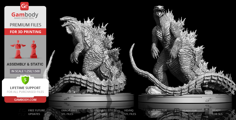 Buy Godzilla Extreme 3D Printing Figurine | Assembly