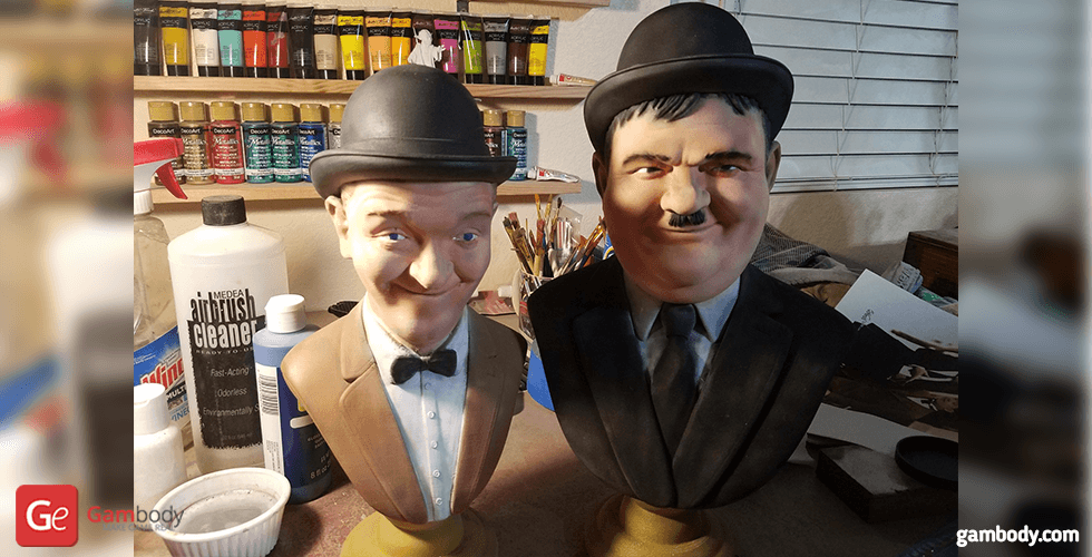 Buy Laurel and Hardy Busts 3D Printing Figurines | Static