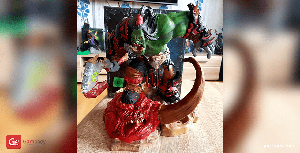 Buy Grommash Hellscream 3D Printing Miniature | Assembly