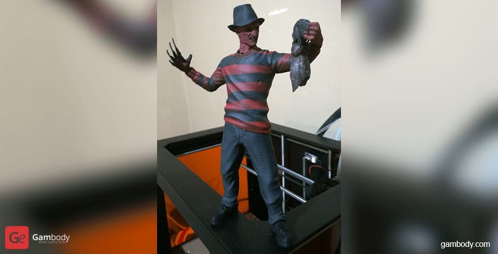 Buy Freddy Krueger 3D Printing Miniature | Assembly
