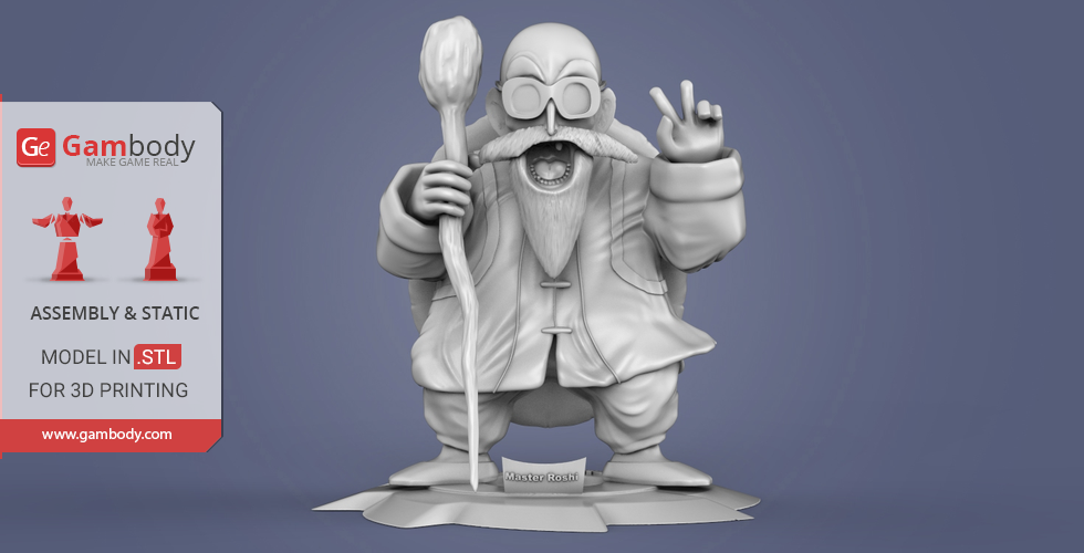 Buy Master Roshi 3D Printing Miniature | Assembly