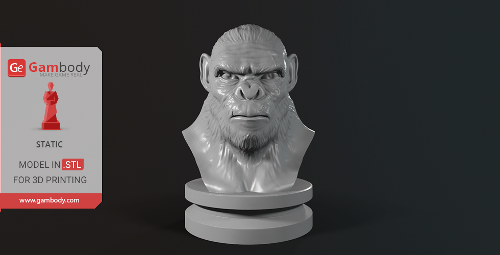 Buy Koba Monkey Bust 3D Printing Miniature | Static