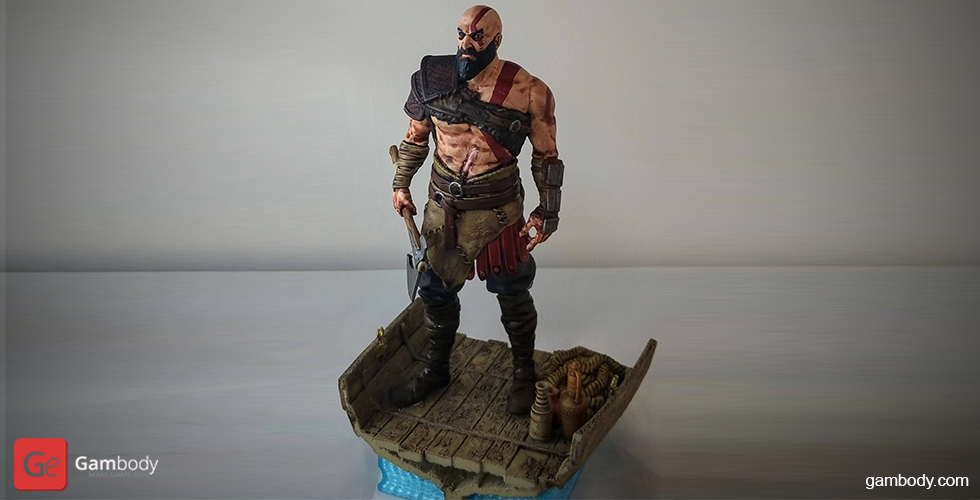 Buy Grumpy old Kratos 3D Printing Miniature | Assembly
