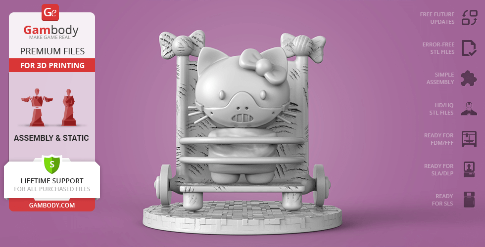 Buy Hello Hannibal Kitty 3D Printing Miniature | Assembly