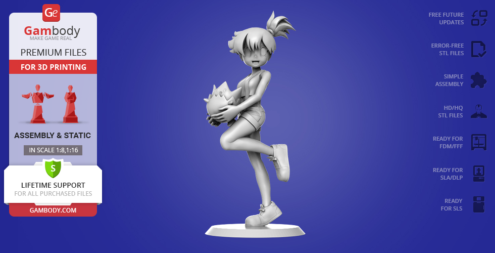 Buy Misty from Pokemon 3D Printing Miniature | Assembly