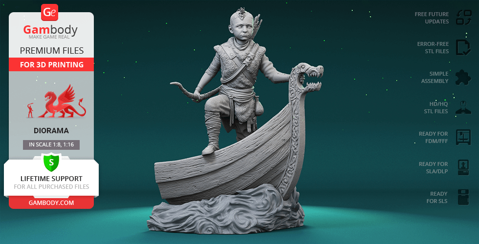 Buy Atreus 3D Printing Figurine | Assembly