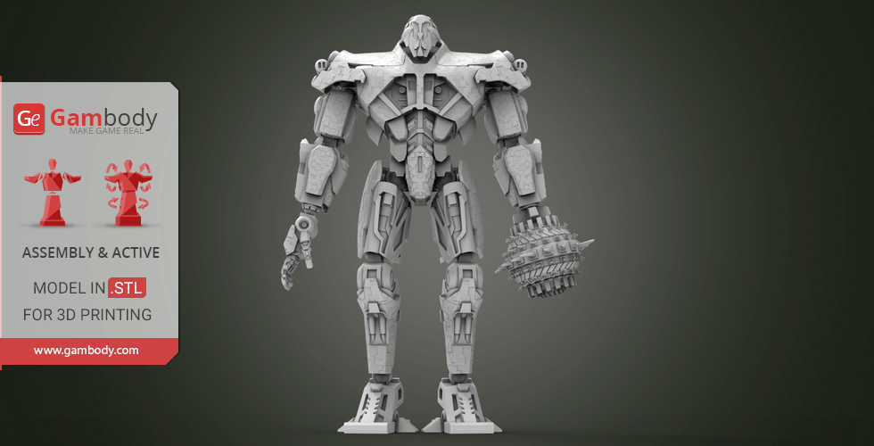 Buy Titan Redeemer 3D Printing Model | Assembly+Action