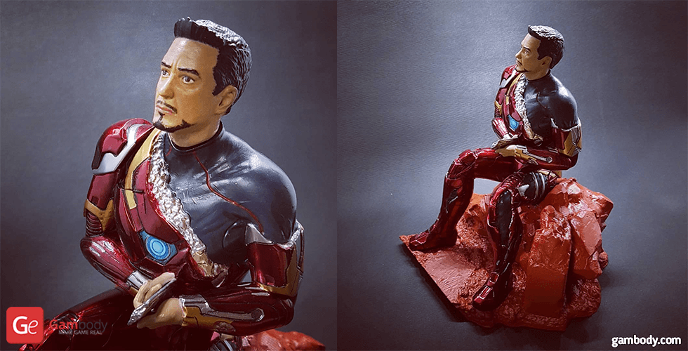 Buy The Defeated Iron Man 3D Miniature for Diorama | Assembly