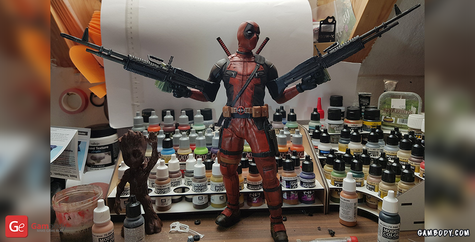 Buy Deadpool 3D Printing Miniature | Assembly