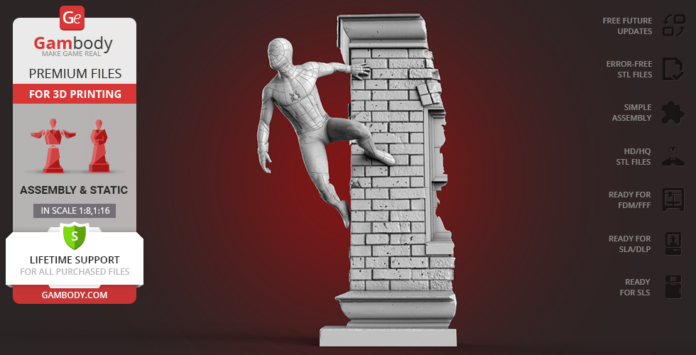 Buy Spider-Man Wall Crawler 3D Printing Miniature | Assembly