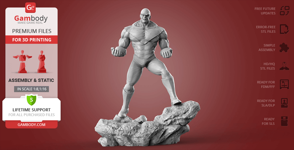 Buy Jiren Dragon Ball Super 3D Printing Figurine | Assembly