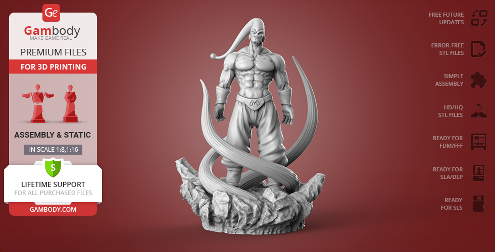 Buy Super Buu 3D Printing Figurine | Assembly